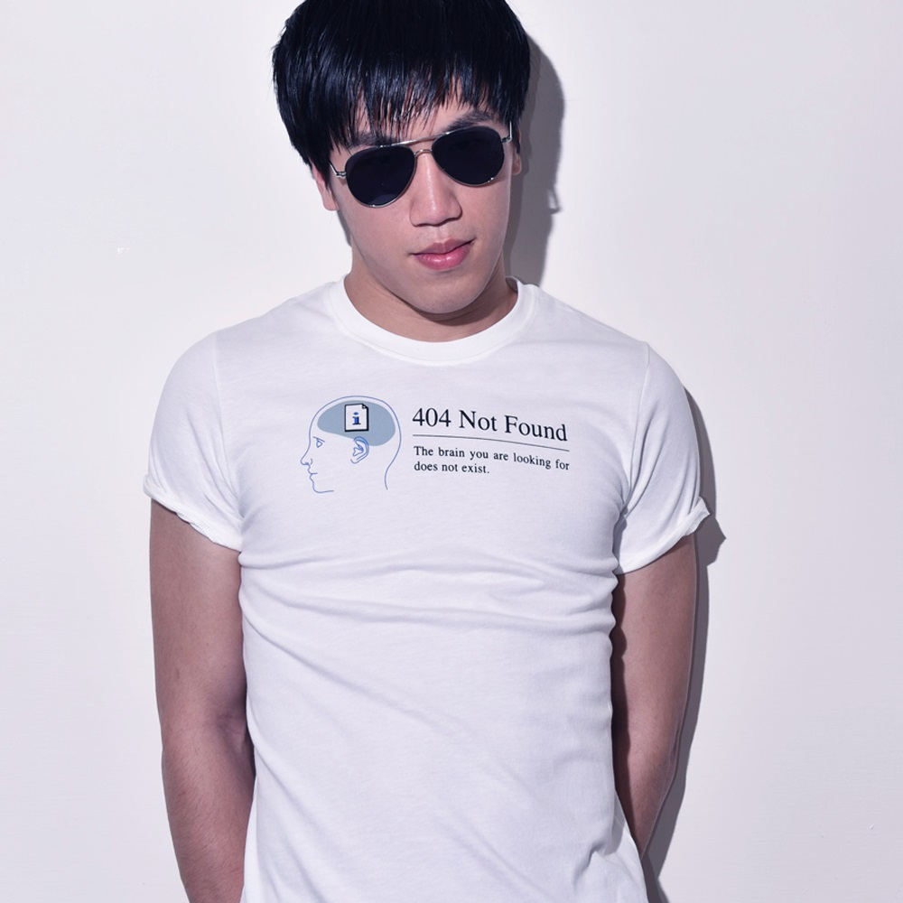 buyMood 白目叮 404 Not Found 腦殘T(白色)