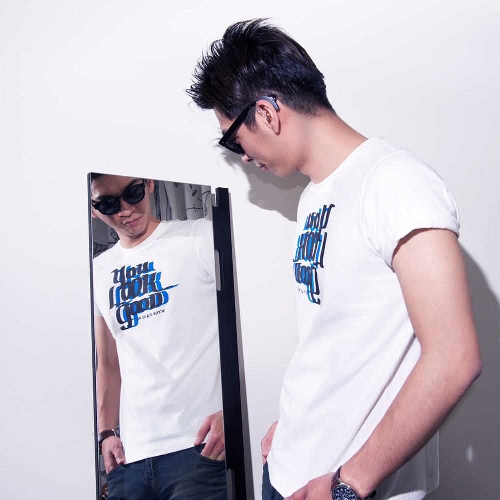 buyMood 白目叮|魔鏡T/會說話的T恤(白色)