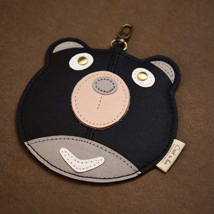 C′est Si Bon|洗舊皮革紙鑰匙圈零錢包-動物狂想曲(Oh熊先生)