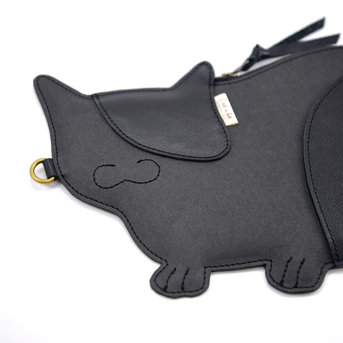 C'est Si Bon|進口壓紋皮革紙 造型手拿/肩背兩用包-貓咪