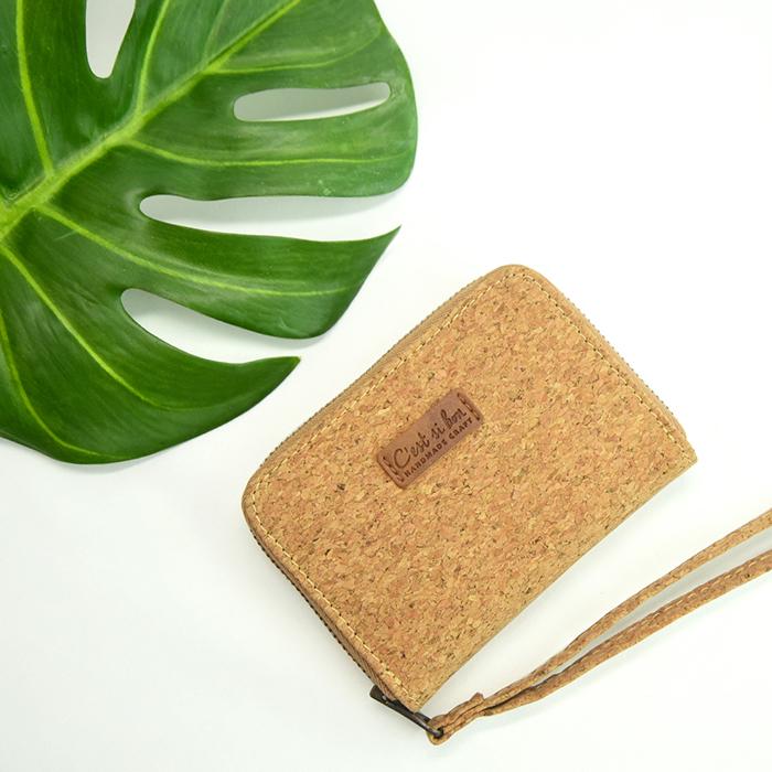 (複製)C'est Si Bon|輕薄纖維紙感 拉鍊卡片錢包-粉紅色