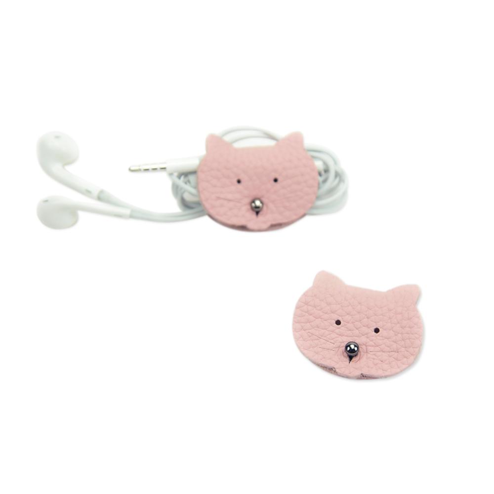C′est Si Bon|真皮粉漾造型捲線器-粉紅貓
