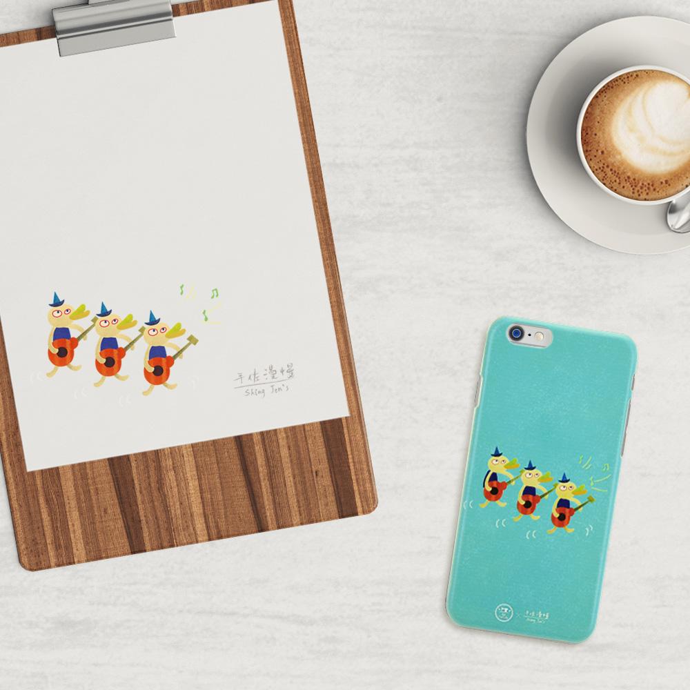 C′est Si Bon|手繪插畫系列立體浮雕iphone手機殼(三隻彈烏克麗麗)