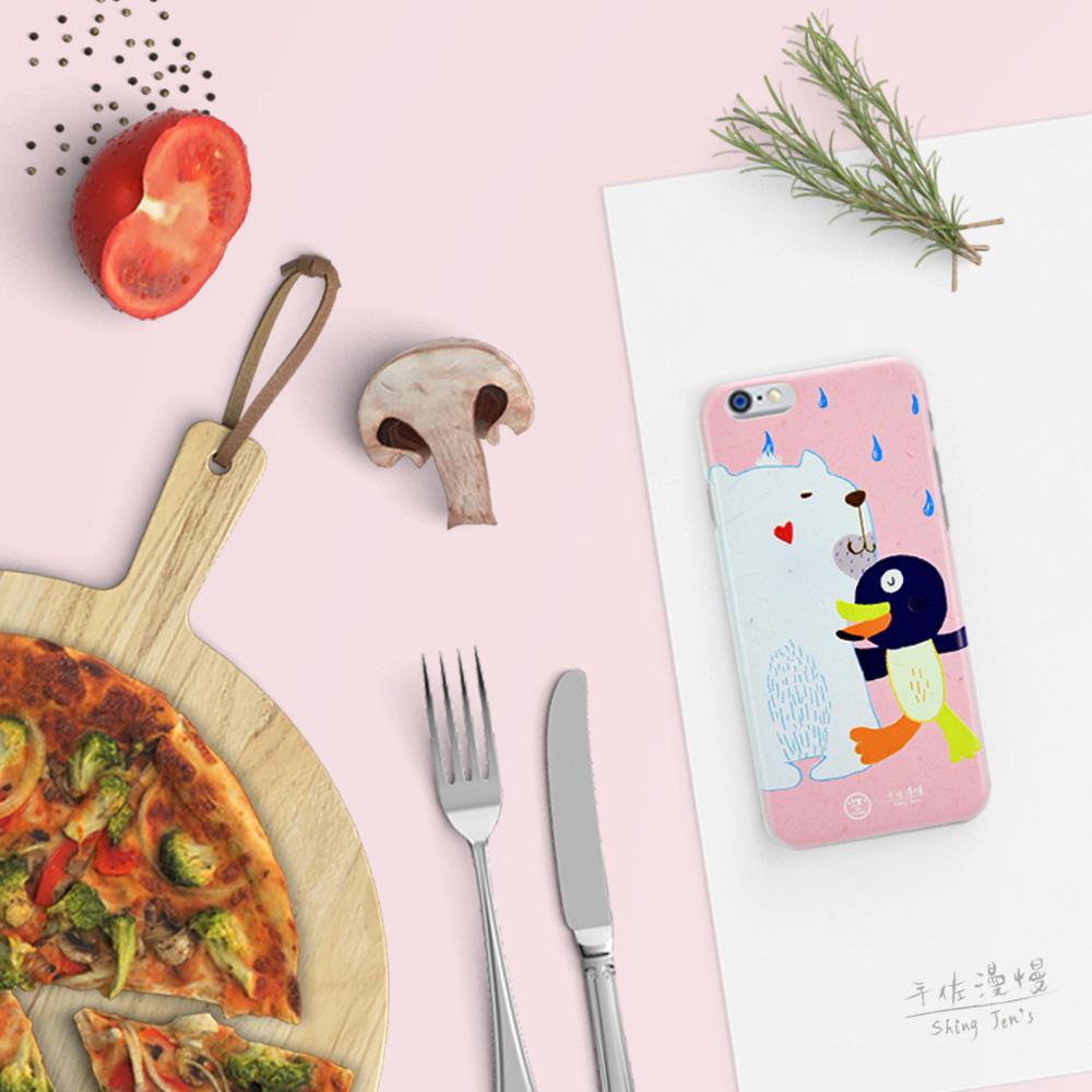 C′est Si Bon|手繪插畫系列立體浮雕iphone手機殼(大白熊,還好有你!)