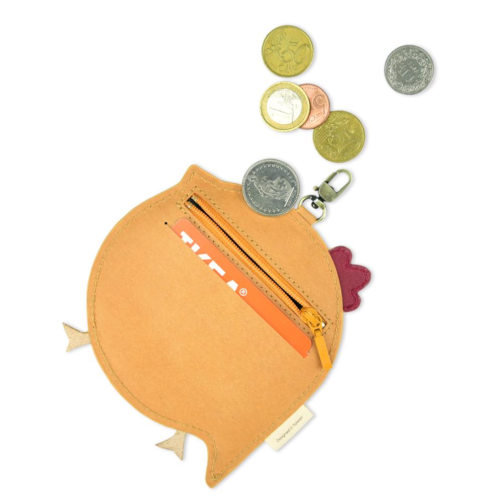 C′est Si Bon|洗舊皮革紙鑰匙圈零錢包-動物狂想曲(小雞仔)