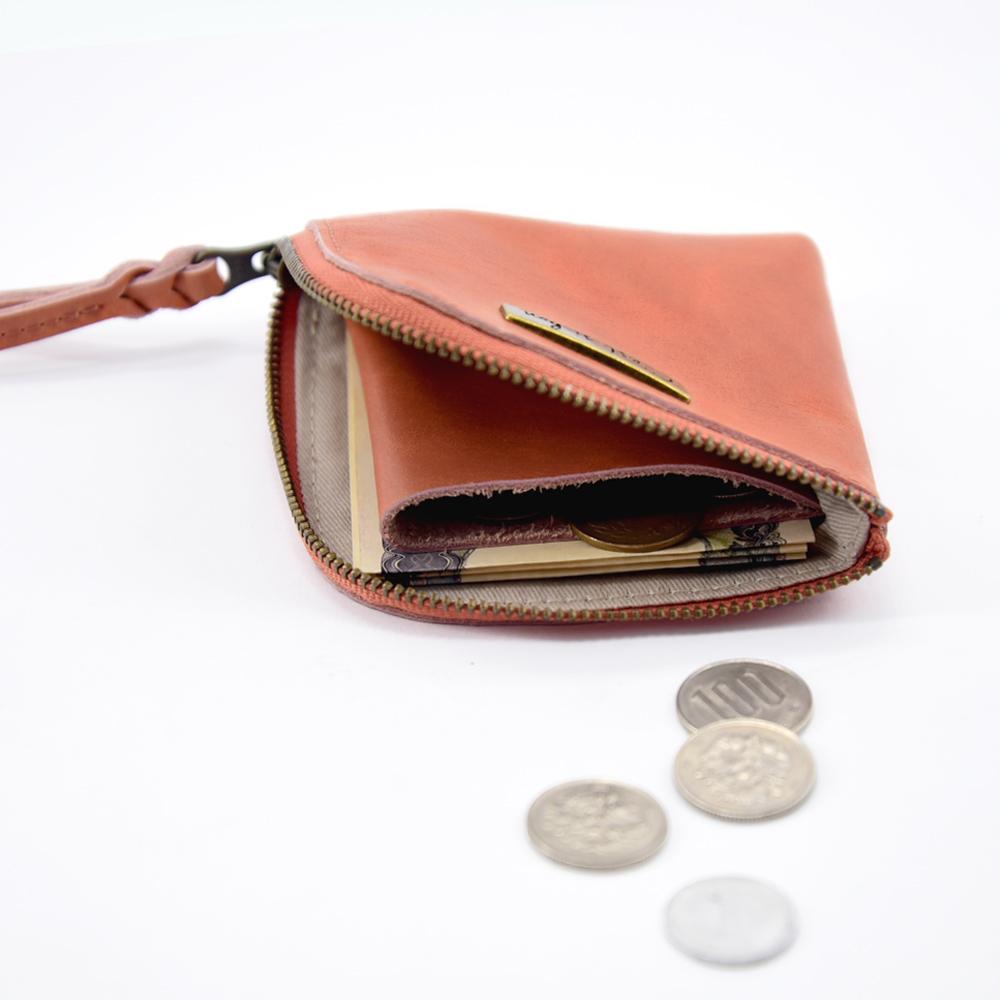 C′est Si Bon|進口真皮L型拉鍊零錢包/鈔票短夾-啡紅色