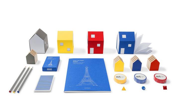 包浩斯Bauhaus靈感便條紙屋(黃色)