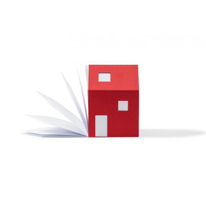 包浩斯Bauhaus靈感便條紙屋(紅色)
