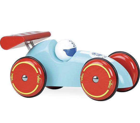 Vilac| 法國手工製作實木XL賽車 (紅藍色)