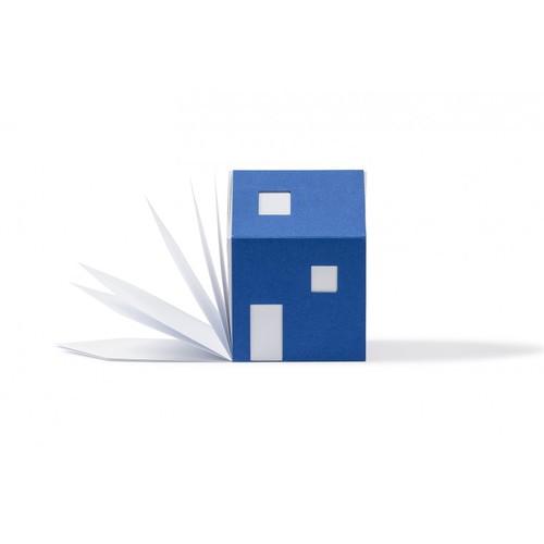 cinqpoints 包浩斯Bauhaus靈感便條紙屋(藍色)