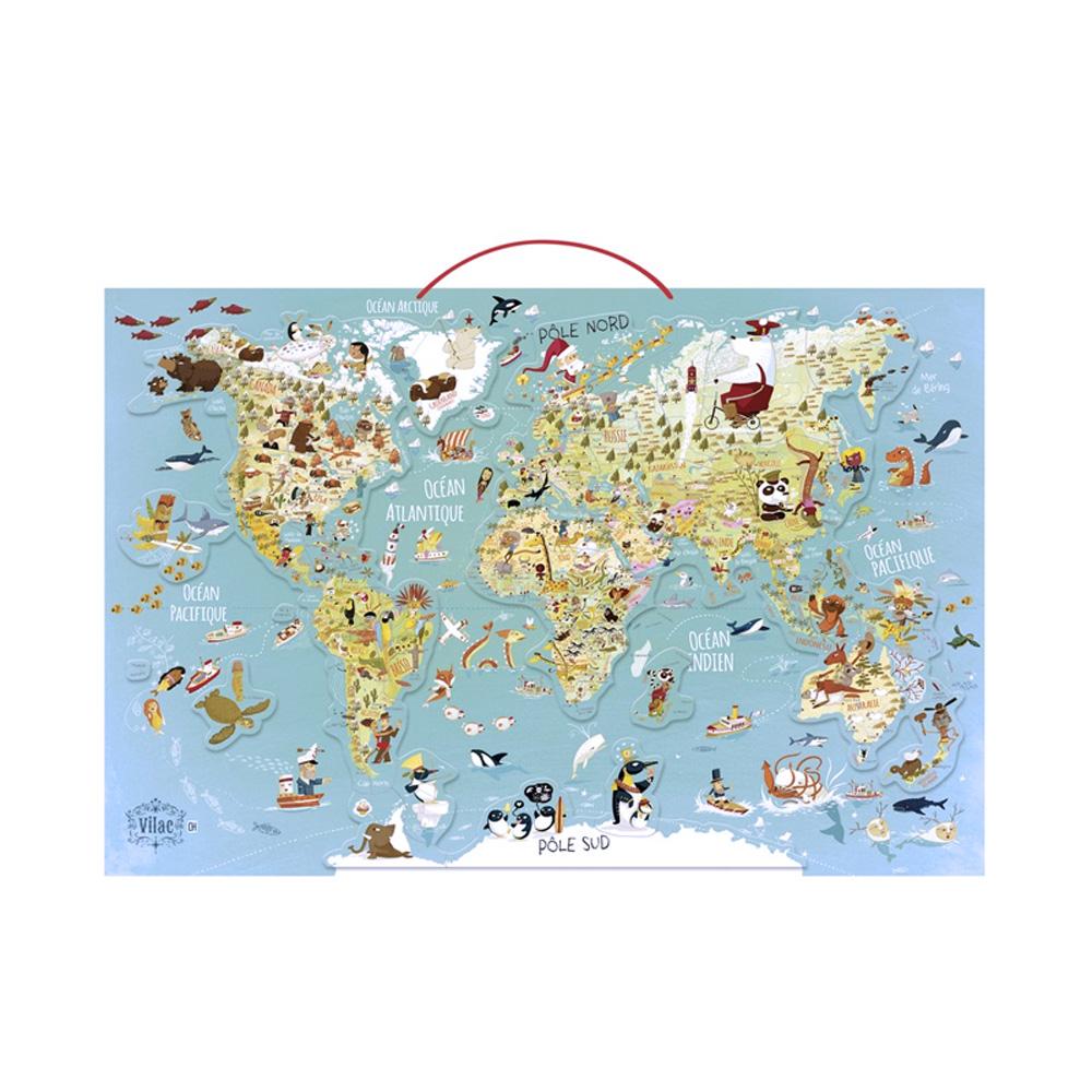 Vilac|世界地圖 (英文版)