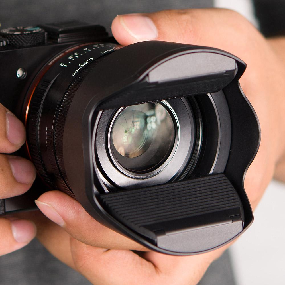 KiWAV|Hoocap遮光罩鏡頭蓋2合1-通用型M系列. 43/46/55mm 口徑