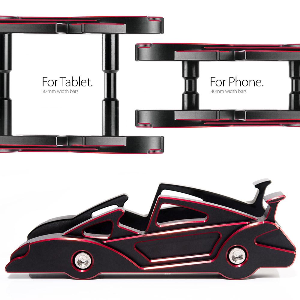 KiWAV|航太鋁合金多功能手機平板架-跑車款(熱力紅)