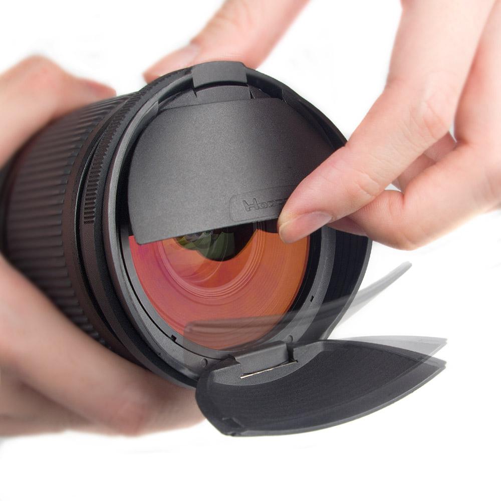 KiWAV Hoocap遮光罩鏡頭蓋2合1-通用型R系列. 58mm 口徑