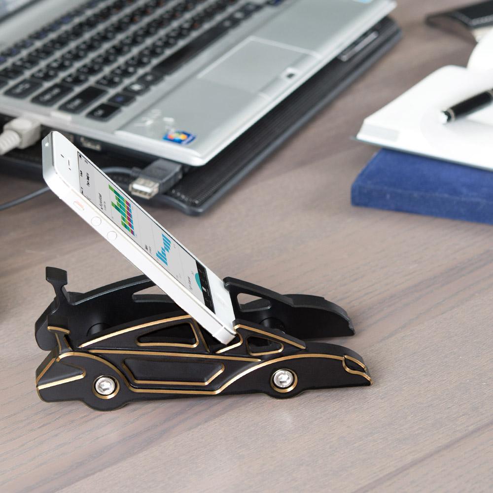 KiWAV 航太鋁合金多功能手機平板架-跑車款(皇家鈦)
