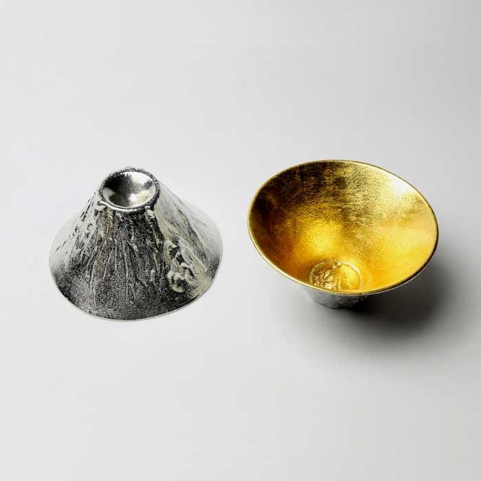 (複製)能作|金箔富士山造型杯