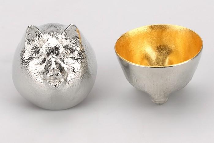 金箔生肖造型杯 (狗)
