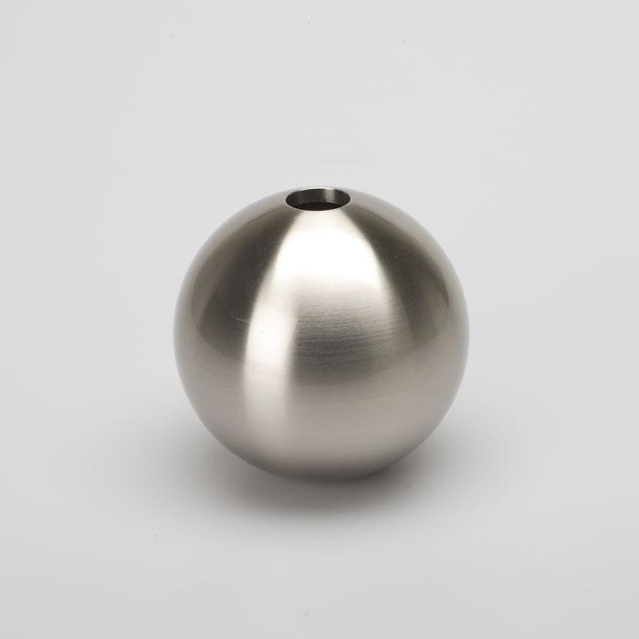 能作|銀彩銅球花瓶(L)