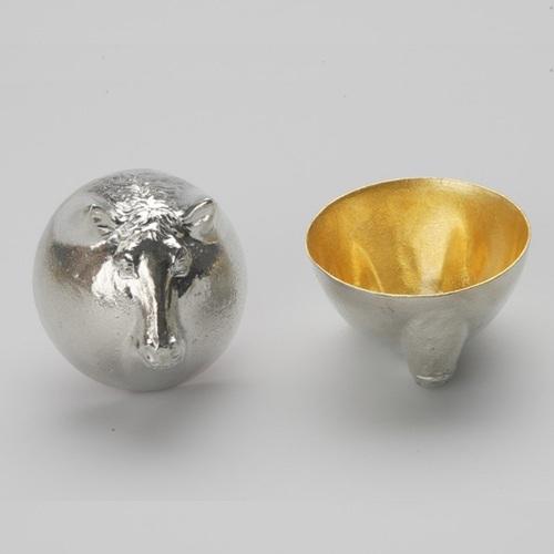 能作|金箔生肖造型杯(馬)