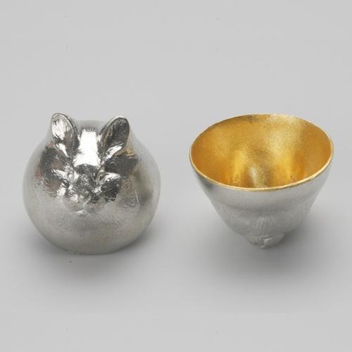 能作|金箔生肖造型杯(兔)