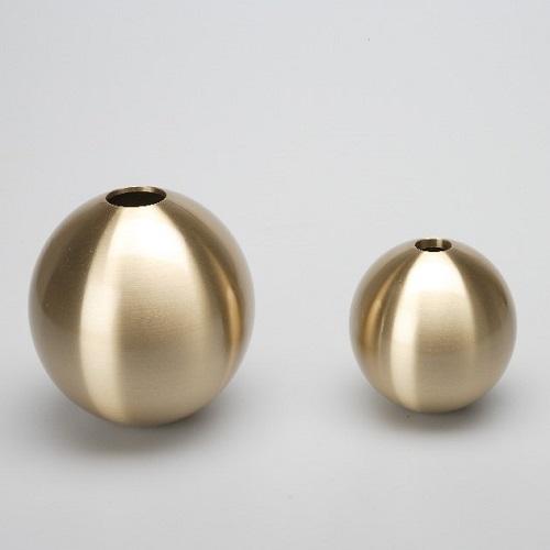 能作|銅球花瓶 - L