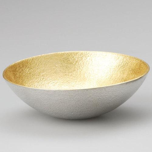 能作|純錫金箔調味盤(L)