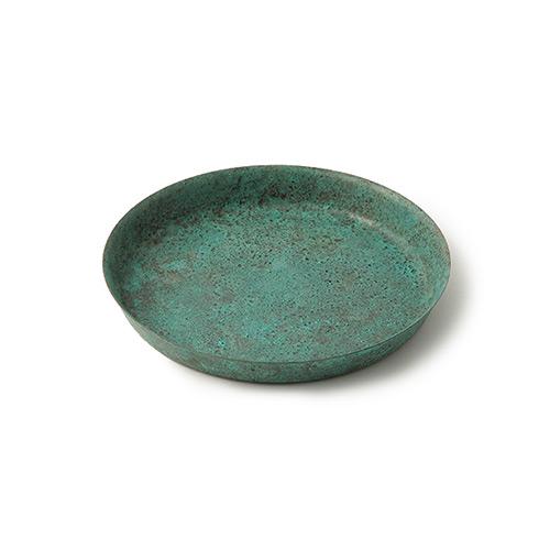 折井 Orii tone圓滿銅彩盤-綠銅(S)