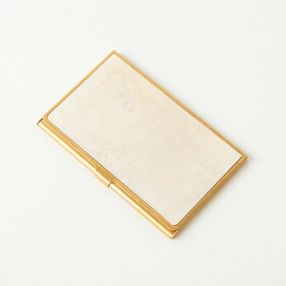 折井 Orii|銅彩名片盒-斑紋純銀色