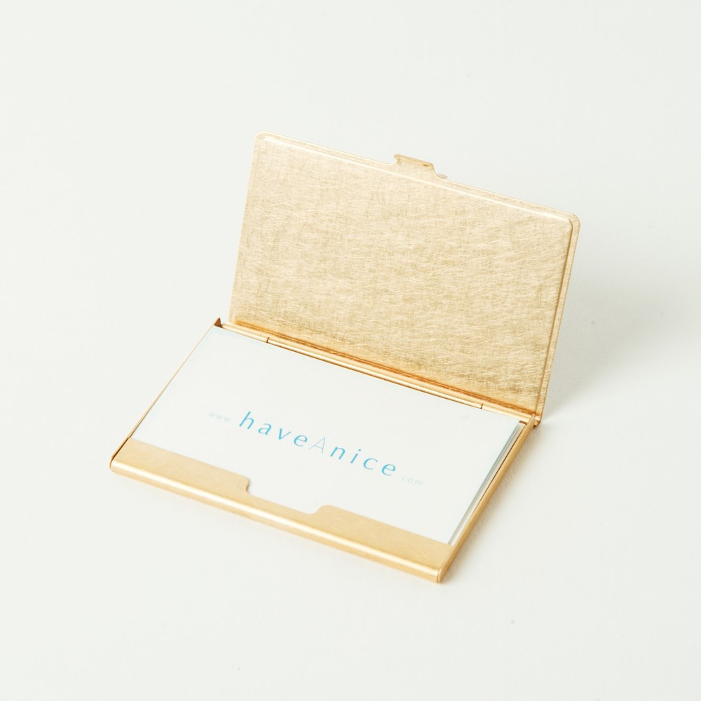 折井 Orii|銅彩名片盒-斑紋孔雀色