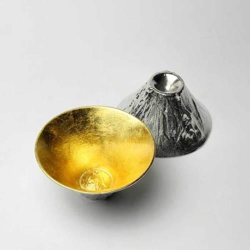 能作|金箔富士山造型杯