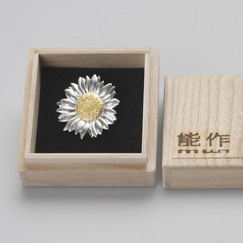 能作|純錫胸花 (向日葵)
