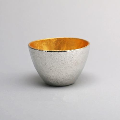能作 純錫酒杯+純錫金箔酒杯組