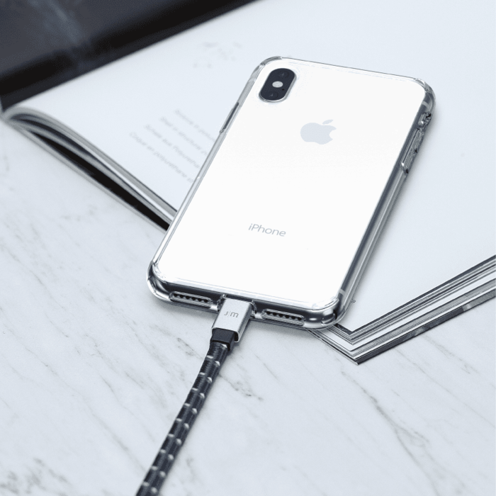 Just Mobile   AluCable™ Flat [Braided] 鋁質傳輸編織扁線 繁星黑 DC-268BSI