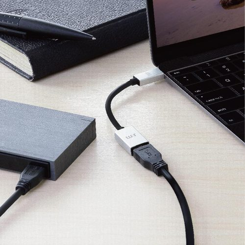 Just Mobile AluCable™ USB-C 3.1 to USB 鋁質轉接器 DC-358