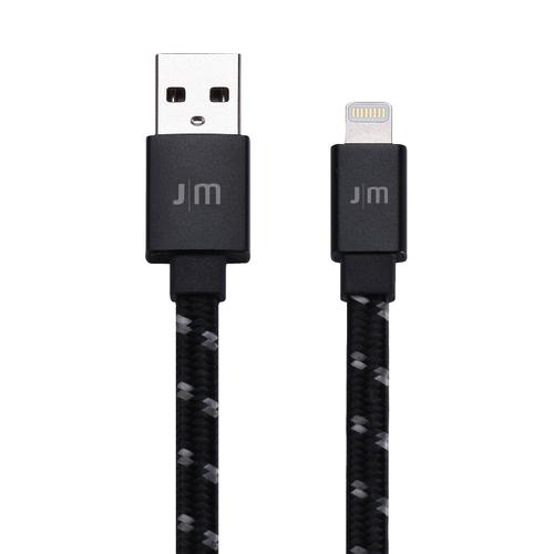 Just Mobile | AluCable™ Flat [Braided] 鋁質傳輸編織扁線 繁星黑 DC-268BSI