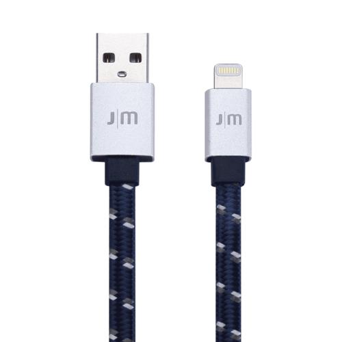 Just Mobile | AluCable™ Flat [Braided] 鋁質傳輸編織扁線 繁星藍 DC-268BSI