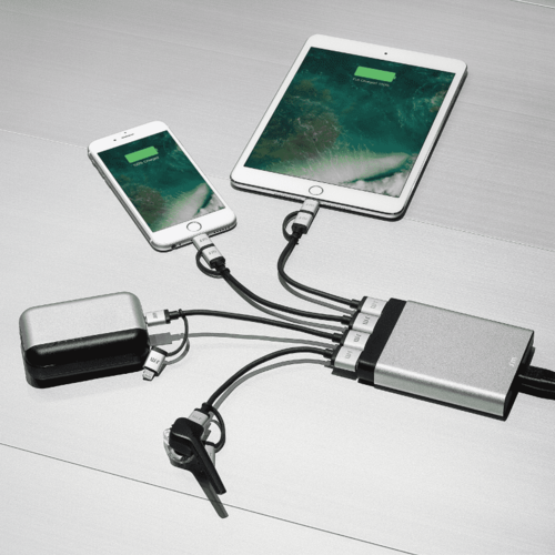 Just Mobile | AluCharge™ 鋁質USB四埠智慧充電器 PA-188TW