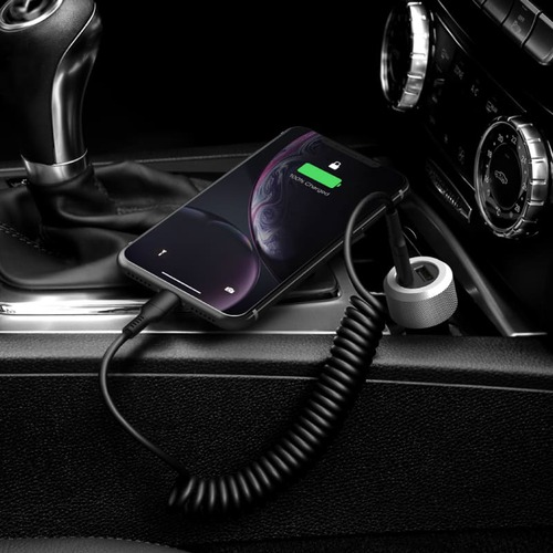 Just Mobile|Highway™ Turbo 30W 雙孔鋁質 PD/QC 極速車充 CC-200
