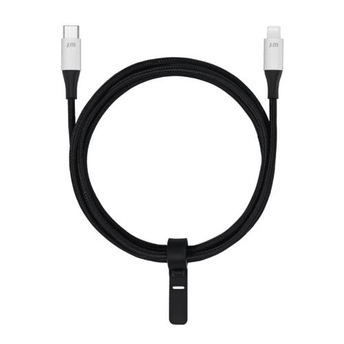 Just Mobile|  AluCable™ 鋁質 USB-C 對 Lightning 連接線 DC-612SI