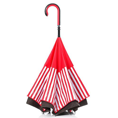 Carry|限量印刷款反向傘(紅白條紋)