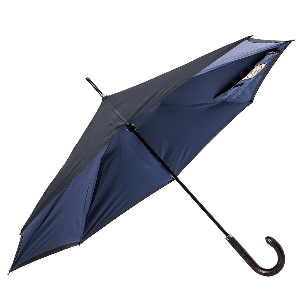 Carry|都會款菱格紋反向傘(深海藍)