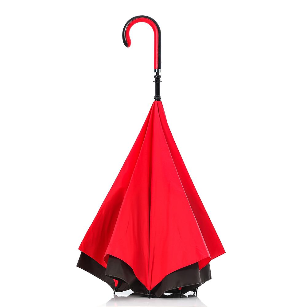 Carry|都會款反向傘(鐵灰紅)