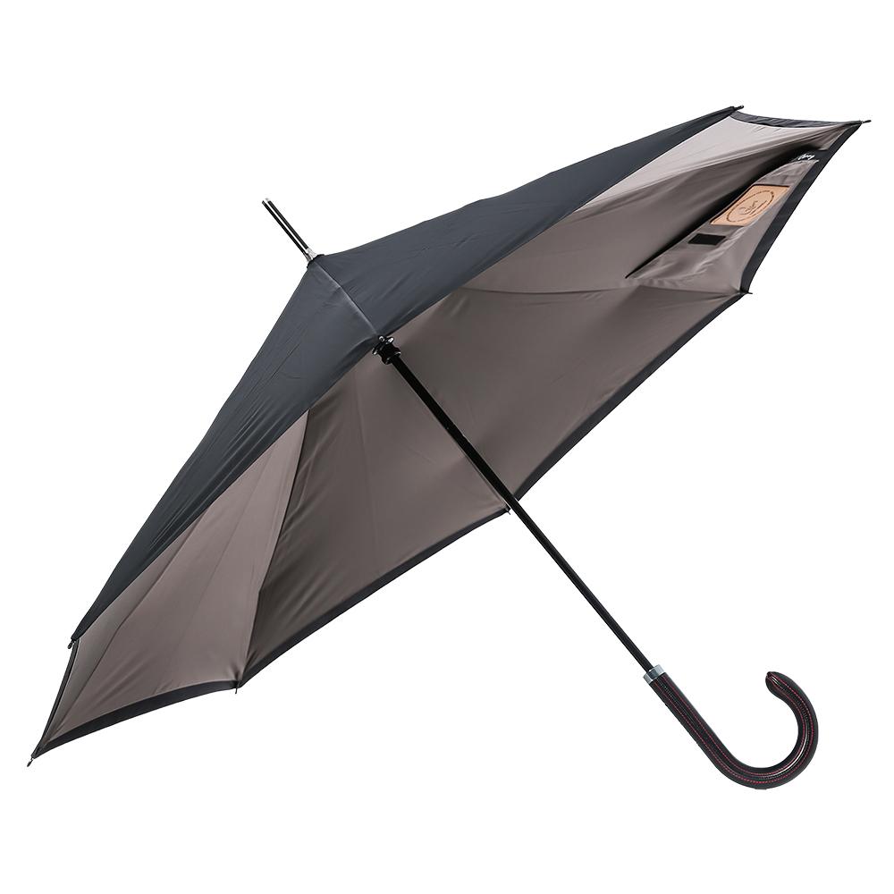 Carry|都會款菱格紋反向傘(銀灰)