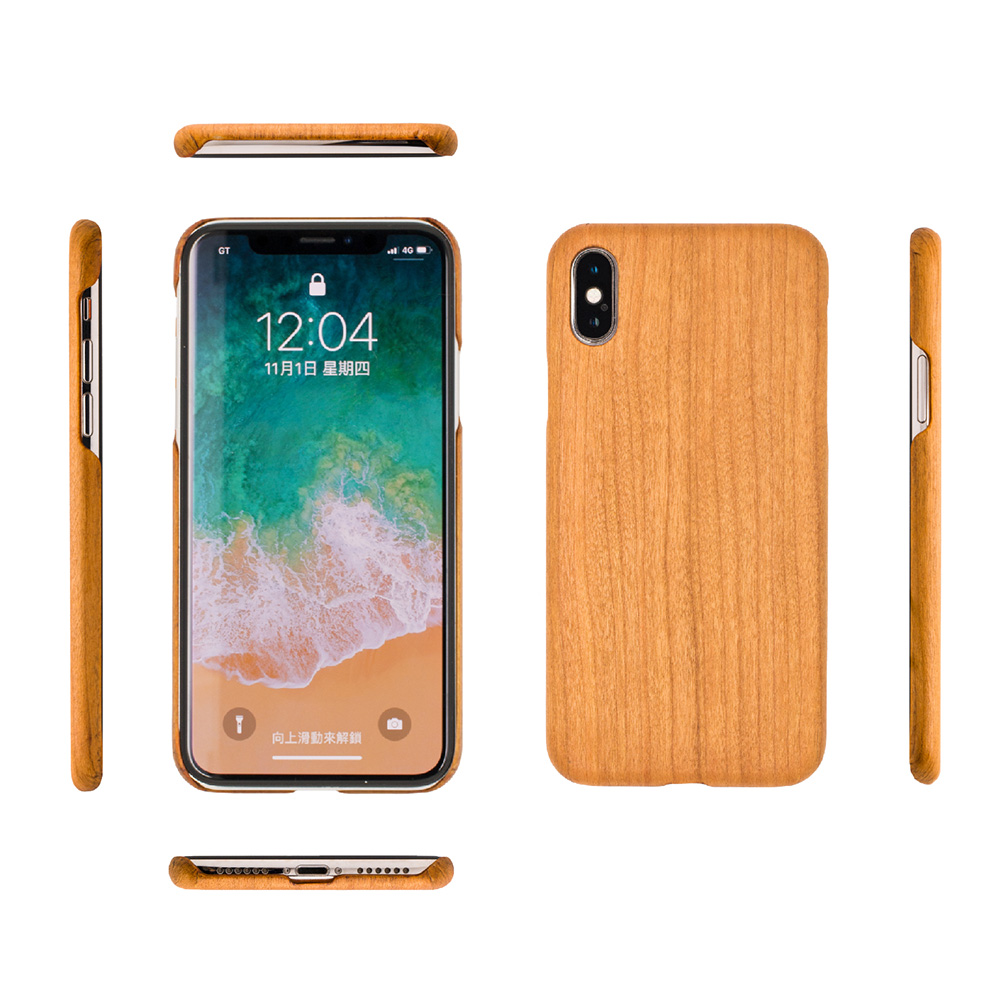 Carry|RealWood 純木手機殼 – 櫻桃木 ( for iPhone X )