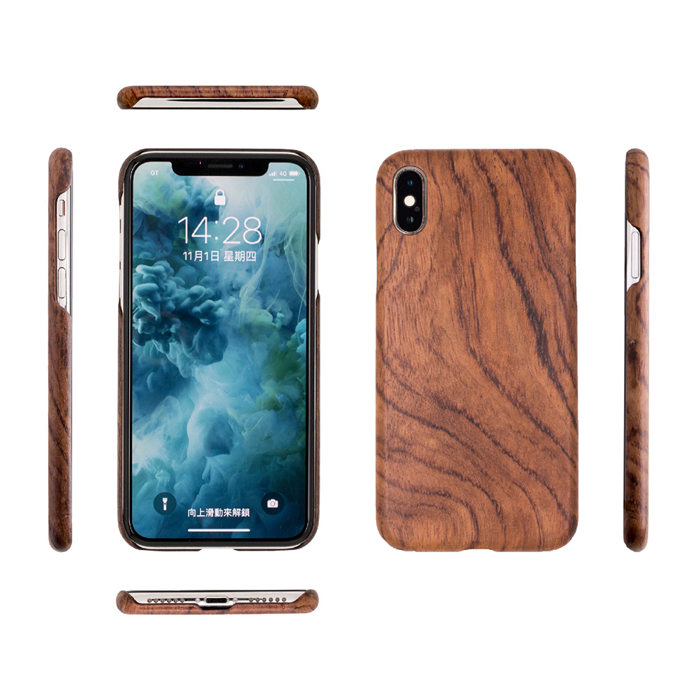 Carry|RealWood 純木手機殼 – 花梨木 ( for iPhone X )