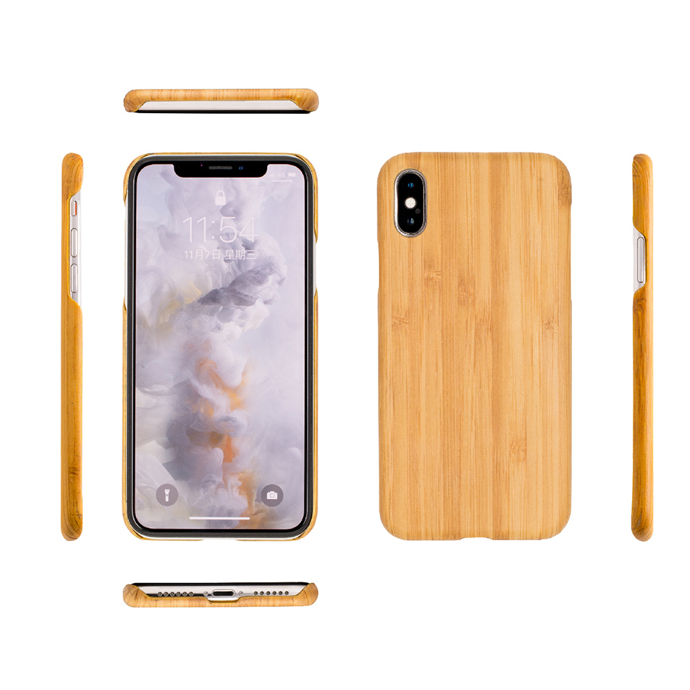Carry|RealWood 純木手機殼 – 碳化楠竹 ( for iPhone X )