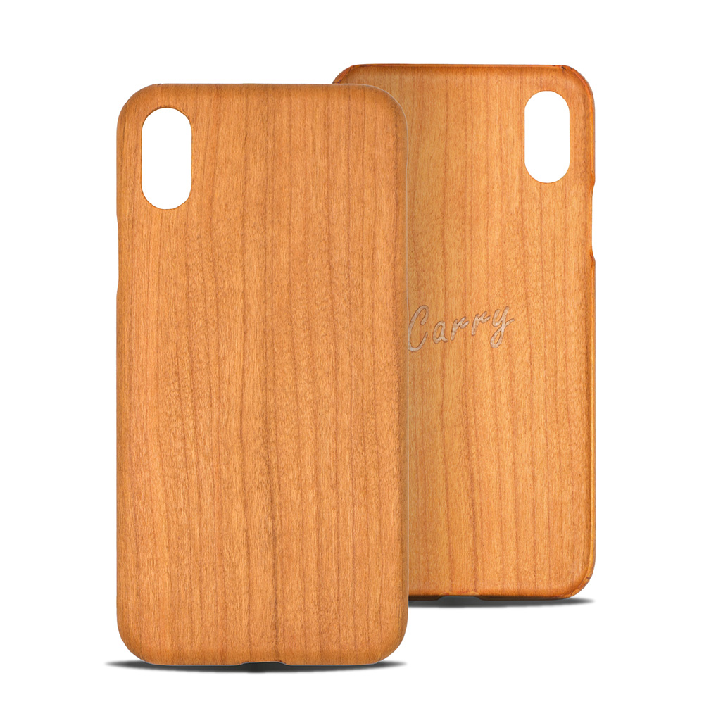 Carry|RealWood 純木手機殼 – 櫻桃木 ( for iPhone XR )