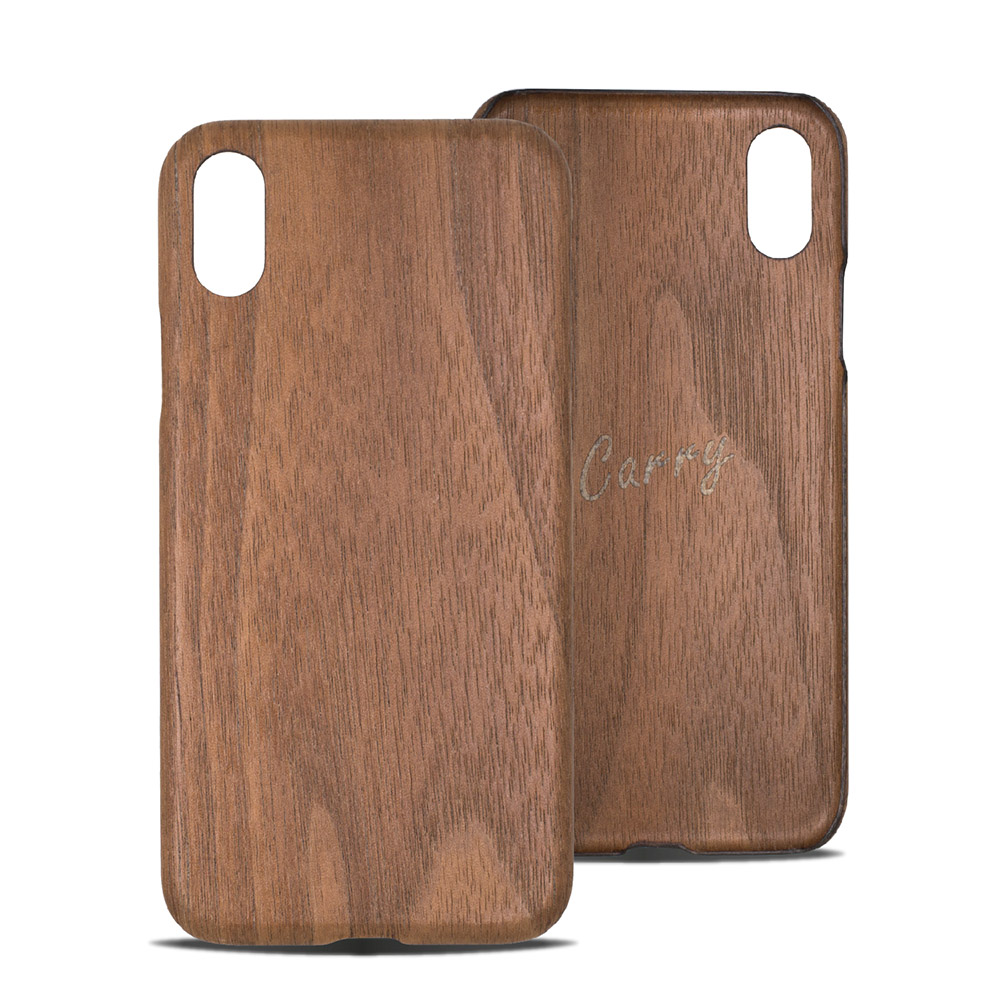 Carry|RealWood 純木手機殼 – 胡桃木 ( for iPhone XR )