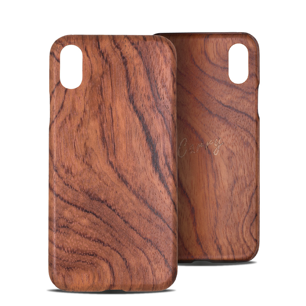 Carry|RealWood 純木手機殼 – 花梨木 ( for iPhone XR )