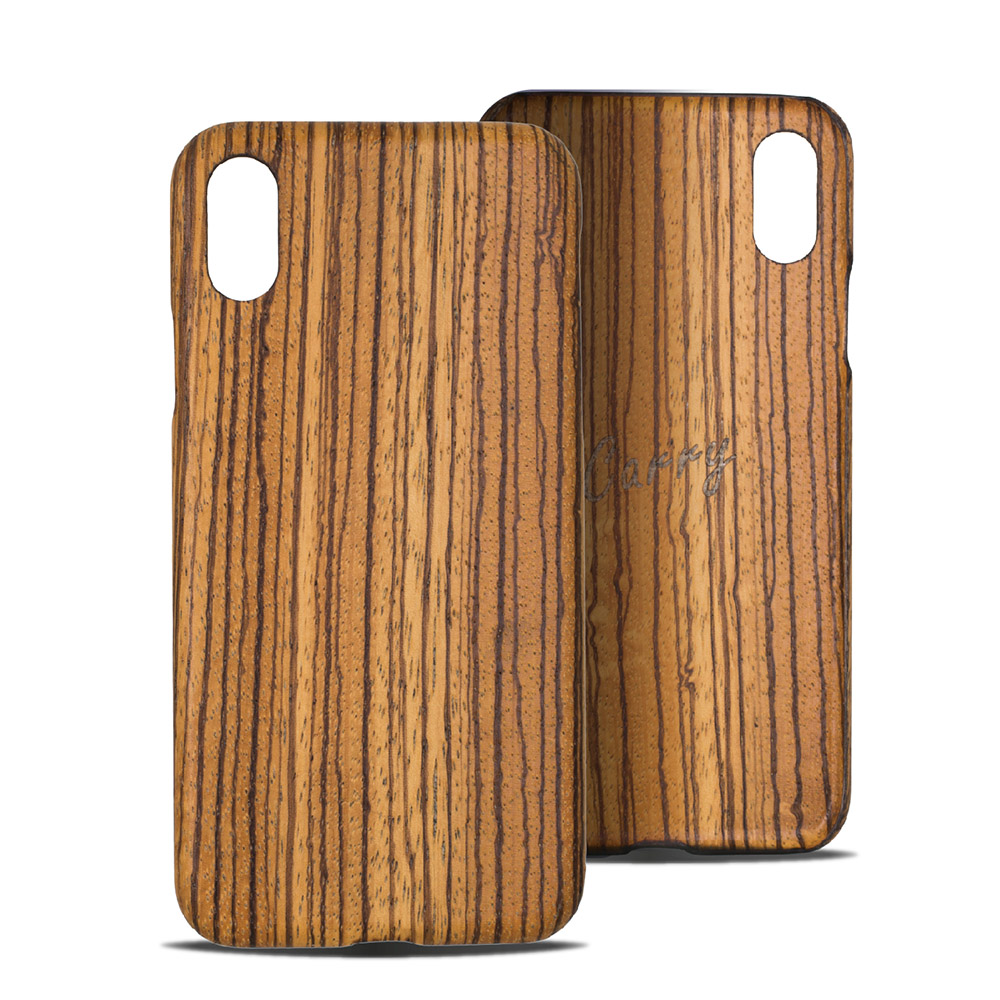 Carry|RealWood 純木手機殼 – 斑馬木 ( for iPhone X )